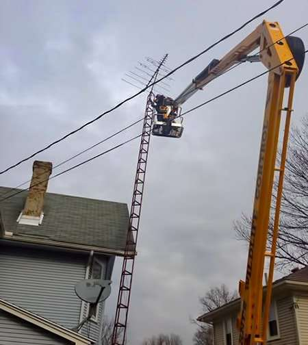 tv antenna removal job in Troy Ohio