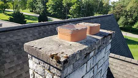 chimney before repair