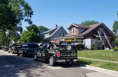 Barnes Wildlife Control's Darke County Animal Pest Removal Service on another big job. We're the best in the business!