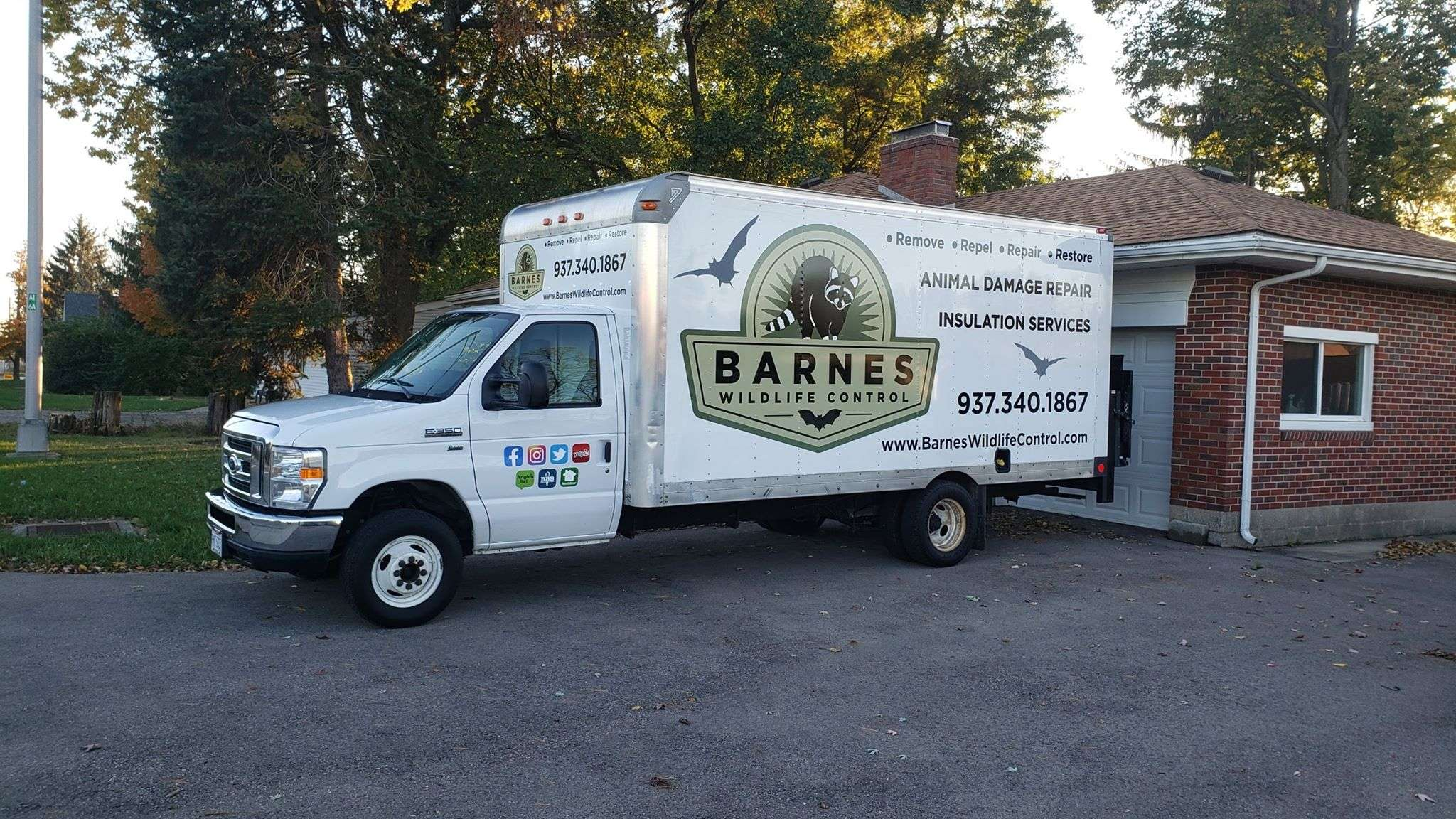 Montgomery County Animal Pest Removal Services photo of one of our animal damage repair and insulation services truck.