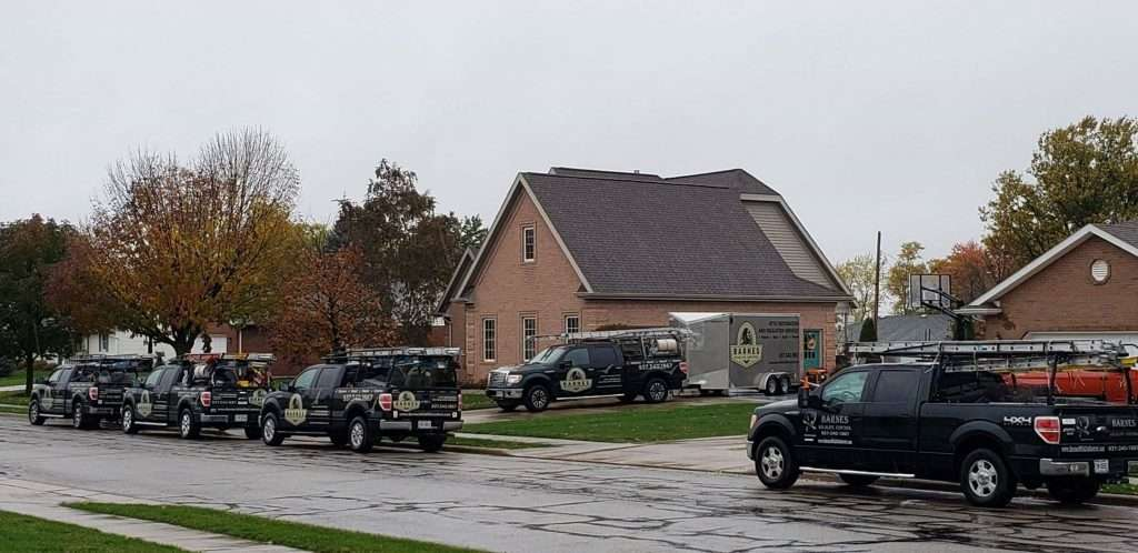 Clark County Ohio Bat Removal photo of Barnes Wildlife Control's fleet of trucks.