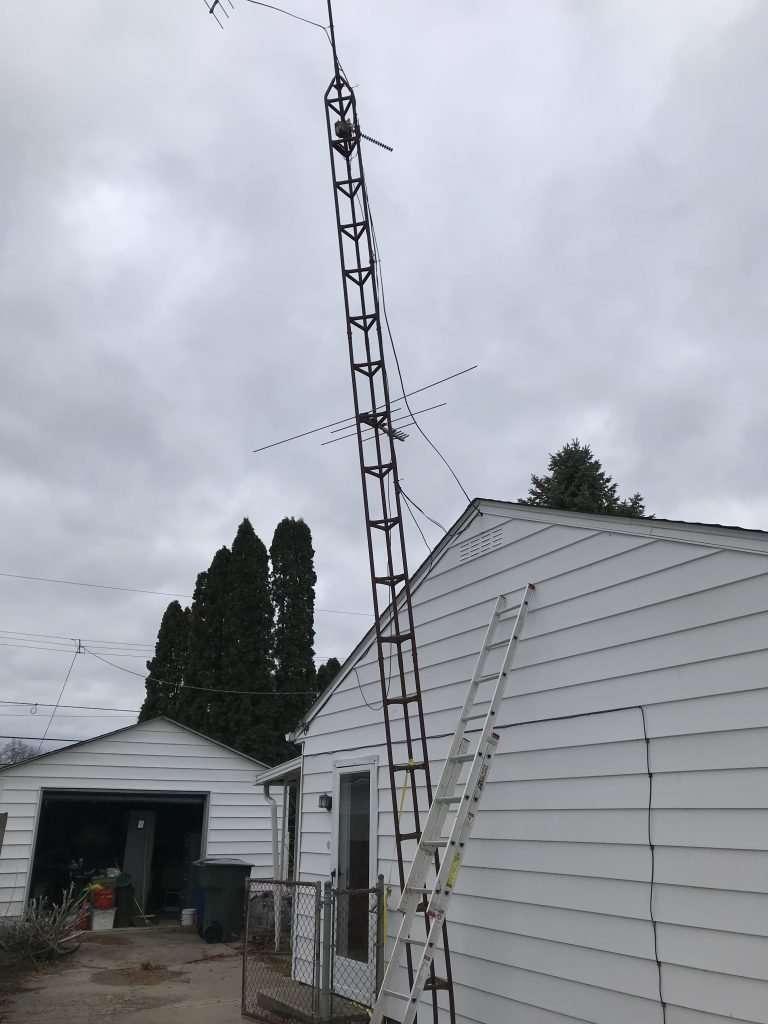 Take Down TV Antenna Tower